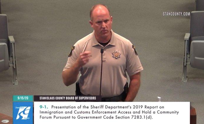 Dirkse sheriff speaks board of supes