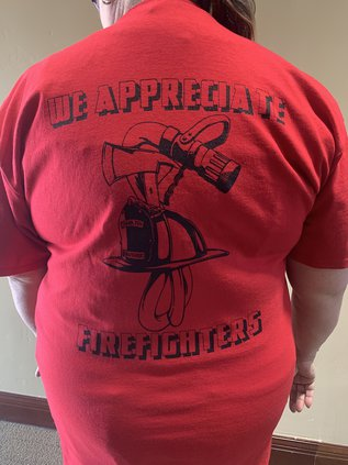 Cost Less firefighter t-shirts