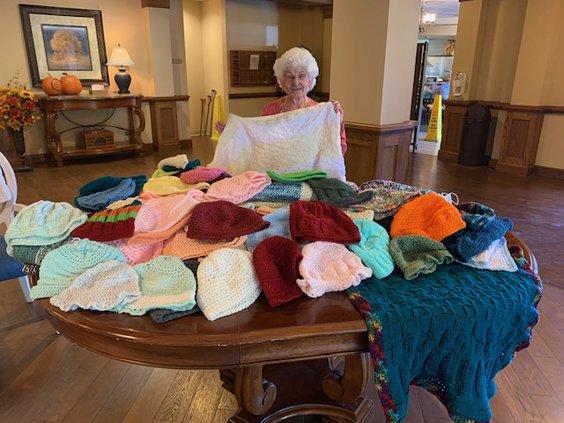 senior knitter