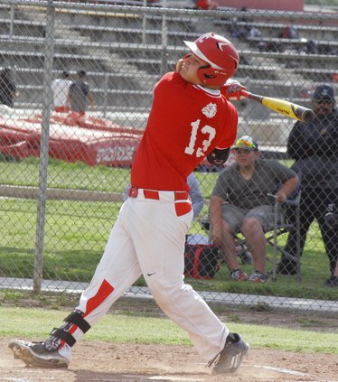 Josh Pernetti at bat