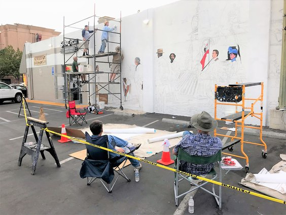 downtown mural work