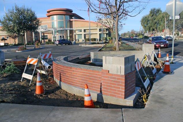 Unfinished plaza