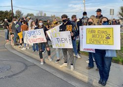 Hughson protest