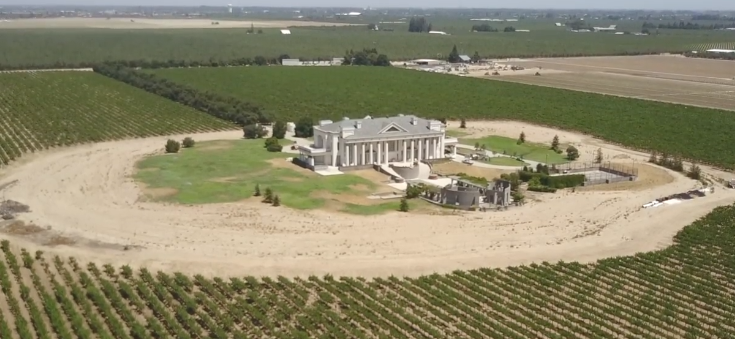 mansion aerial