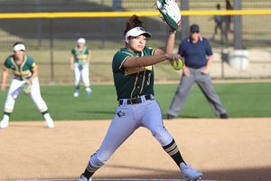 Callie Nunes throws ball