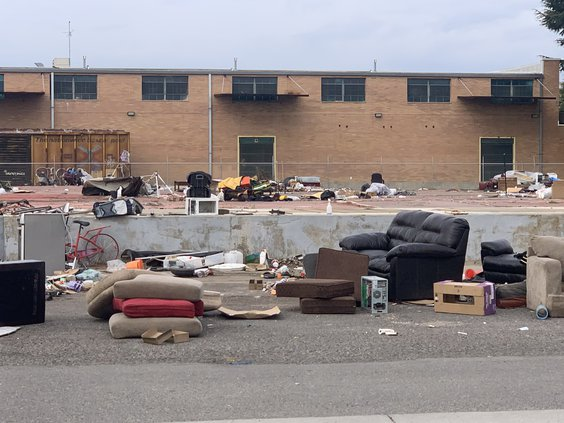 homeless camp clean up