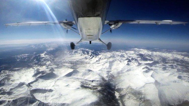 snow flyover