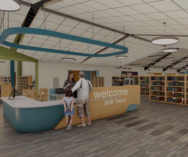 Turlock library rendering