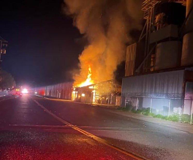 arson fire First Street