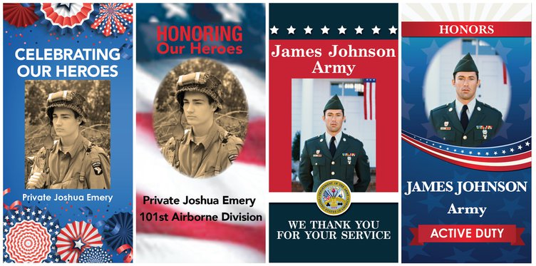 Banners for veterans