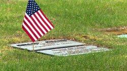 flag on grave