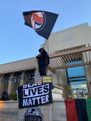BLM police rally