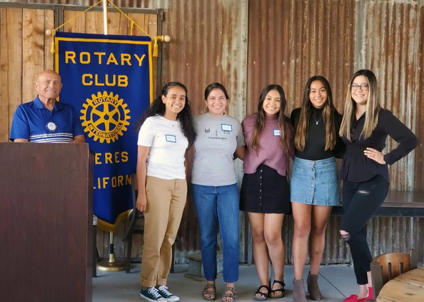 Rotary scholarship girls
