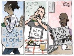 support local newspaper art