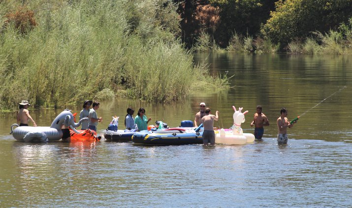 River float drought