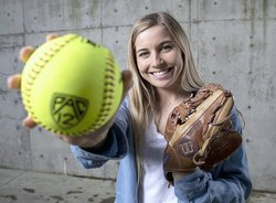 Nicole Bates holds ball