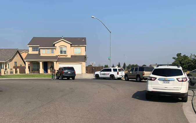 Keyes homicide arrest scene