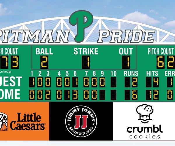 Pitman baseball scoreboard