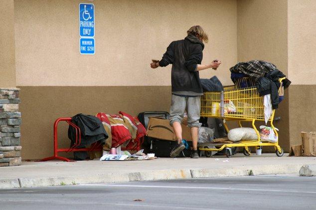 Homeless at Carls