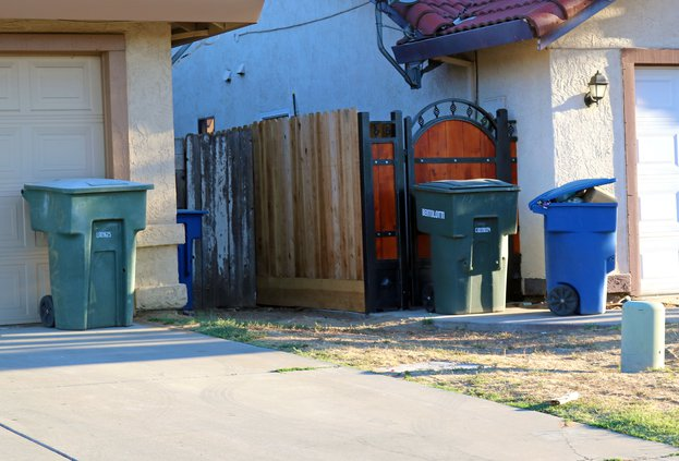 Garbage cans on Hugo Avenue