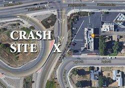 KFC crash site map