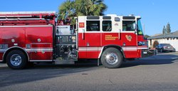 Ceres fire engine sits
