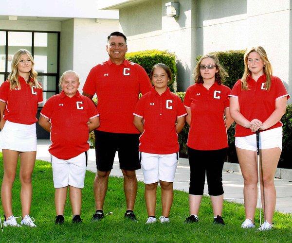 Ceres High girls golf team red